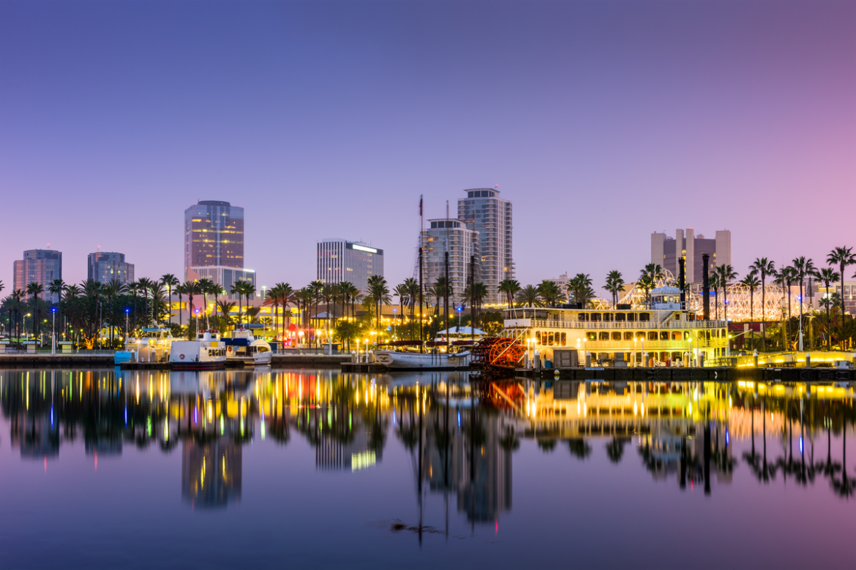 A photo of Downtown Long Beach.