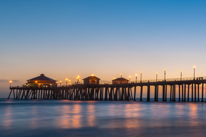Huntington Beach pier.